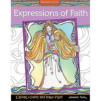 Design Originals-Expressions Of Faith Coloring Book