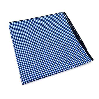 Blue & white cross pattern large 33cm pocket square