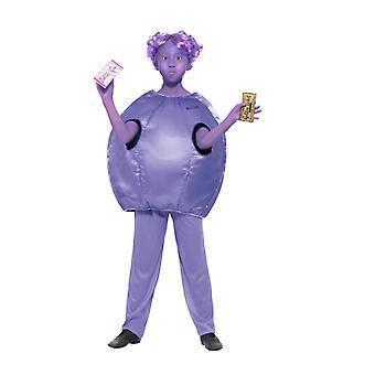 Costume per bambini di Roald Dahl Deluxe Violetta Beauregarde bubblegum chewing gum