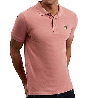 Lyle and Scott Plain Polo Shirt  Pink Shadow