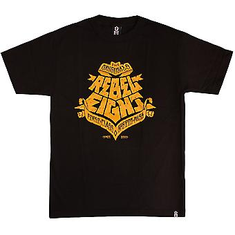 REBEL8 ghetto pass mens t shirt black