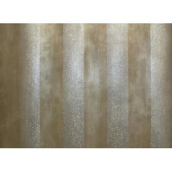 Metallic Brown Stripe Striped Wallpaper Silver Glitter Shimmer Paste The Wall