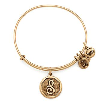 Alex en Ani Initial S Gold Bangle A13EB14SG
