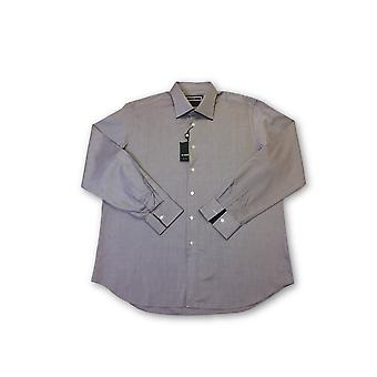 Pal Zileri shirt in purple and white textured weave