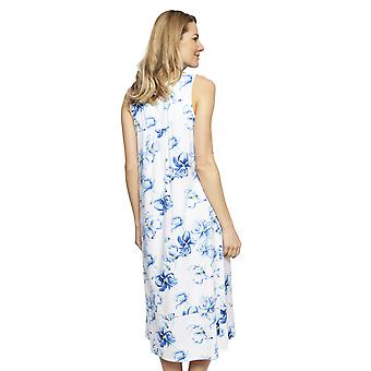 Cyberjammies 1317 Nora Rose Thea Blue Mix Floral Cotton Long Nightdress