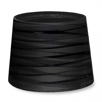 Dress Up Tapered Round Textured Black Finish Shade