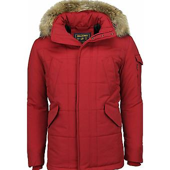 Red Winter manteau hommes grand col de fourrure-hommes Parka