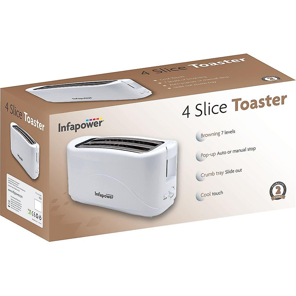 Infapower 4 Slice Toaster - Blanco (Modelo No. X552)