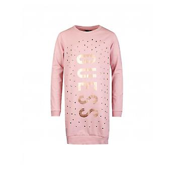 ¿Adivinar? Guess Kids Metallic Logo Sweater Dress