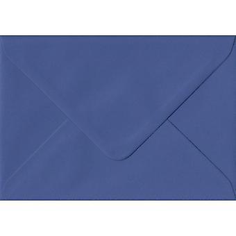 Iris Blue Gummed Greeting Card Coloured Blue Envelopes. 100gsm FSC Sustainable Paper. 125mm x 175mm. Banker Style Envelope.