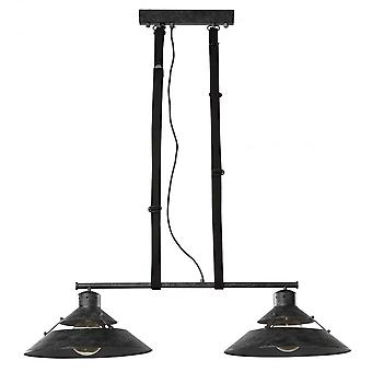 Mantra Industrial Ceiling 2 Light 2x40W E27, Oxide Metal, Black Belt