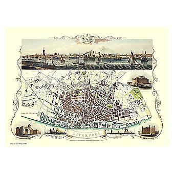 History Portal Liverpool 1851 Map John Tallis 1000 Piece Jigsaw 690mm x 480mm (jg)