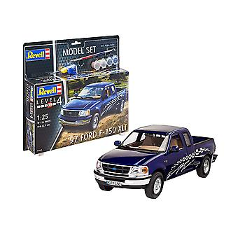 Revell 67045 1997 Ford F-150 XLT Model Set, Blue, 1/144