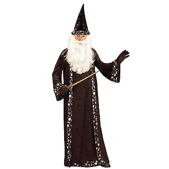 Wizard Merlin Sorcerer Warlock Gandalf Magician Story Book Week Mens Costume STD