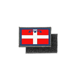 Patch ecusson imprime badge drapeau piemont italie