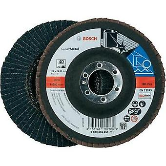 Flap disc - 115 mm, 22,23 mm, 40 Bosch Accessories 2608605450