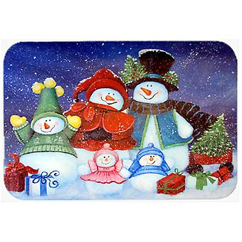 Merry Christmas From Us All Snowman Glass Cutting Board Large PJC1080LCB