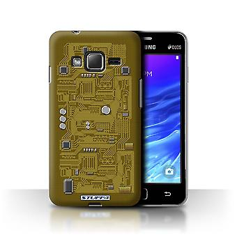 STUFF4 Case/Cover for Samsung Z1/Z130/Yellow/Circuit Board