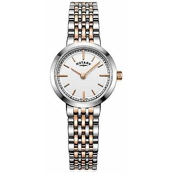 Rotary Womens Canterbury Two Tone White Dial LB05061/02 Watch