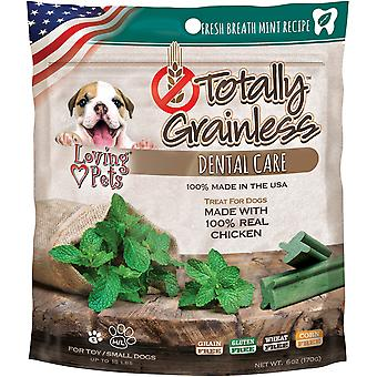 Totally Grainless Dental Bones For Small Dogs 6oz-Fresh Mint LP5313