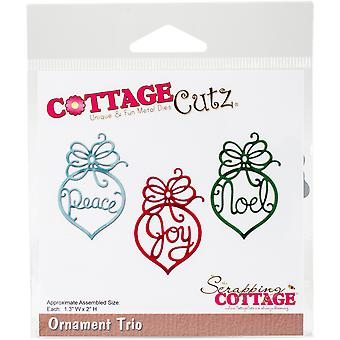 CottageCutz Die-Ornament Trio, 1.3