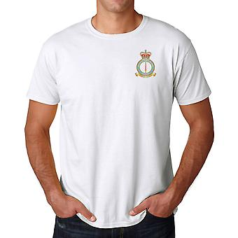 Leeming RAF Station Embroidered Logo - Official Royal Air Force Ringspun Cotton T Shirt