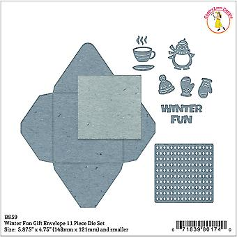 Cheery Lynn Designs Envelope Die-Winter Fun Gift, .25