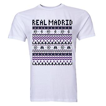 Real Madrid Noël T-Shirt (White) - enfants