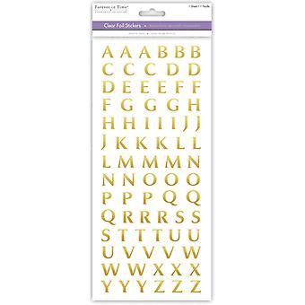 MultiCraft Fancy Foil Everyday Theme Stickers-Gold Foil SS408X