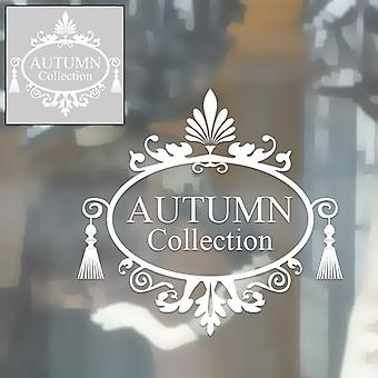 Self Cling Sticker - Autumn Collection - White