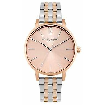 Daisy Dixon Womans Imogen Two Tone Silver Rose Gold DD044RSM Watch