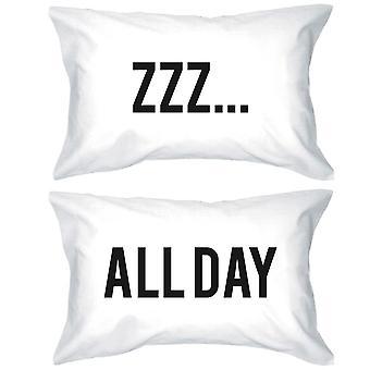 面白い枕標準サイズ 20 × 31 - ZZZ.すべての日に一致するピローケース