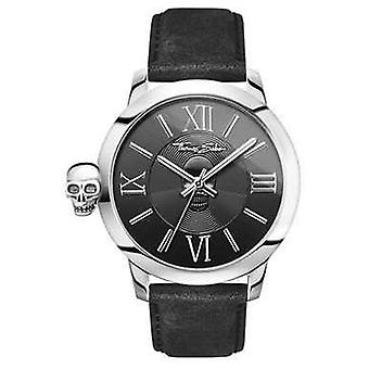 Thomas Sabo Mens Rebel With Karma Stainless Steel Black Leather WA0296-218-203-46 Watch