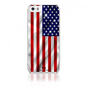 White DIAMONDS Shell iPhone 5/5s/SEE Flag US