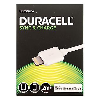 Duracell White Micro USB Sync & Charge 1 Metre Cable for Smartphones & Tablets. - USB5013W