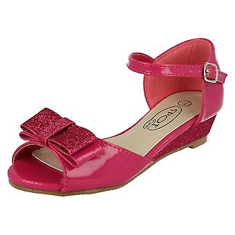Girls Spot On Glitter Special Occasion Sandals H1077