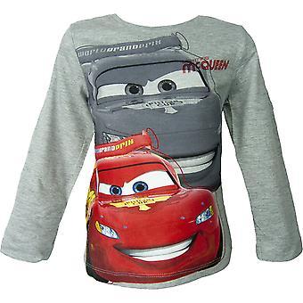 Disney biler Lightning McQueen gutter langermet topp / t-skjorte