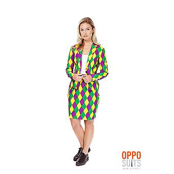 Harlequeen Opposuits ladies costume colorful Slimline 2 premium