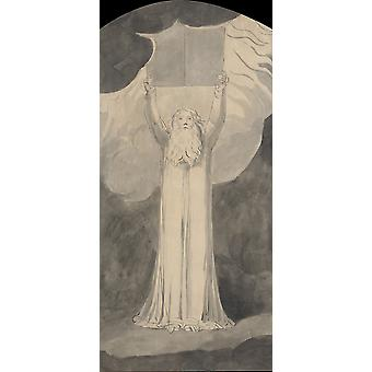 William Blake - Moses Receiving the Law Poster Print Giclee