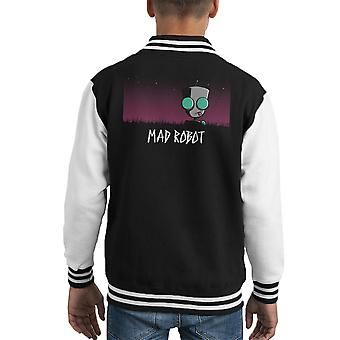 Mad Robot Gir Invader Zim Kid's Varsity Jacket