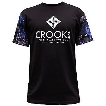 Crooks & kastelen vlaggen mannen T-Shirt zwart