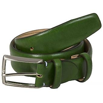 40 Colori Venezia Florentine Leather Belt - Green