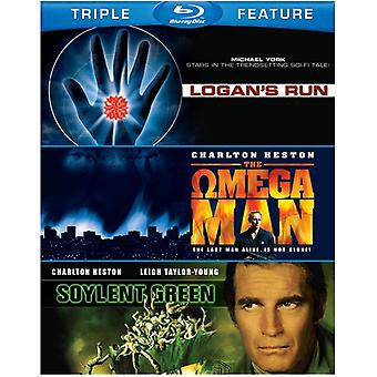 Soylent Green/Logan's Run/Omega Man [BLU-RAY] USA importere