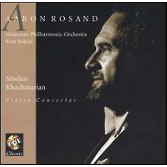 Aaron Rosand - Sibelius, Khachaturian: Violin Concertos [CD] USA import