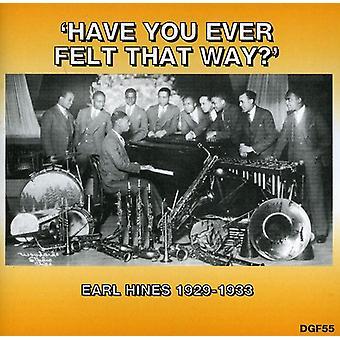 Earl Hines - har du nogensinde følt denne måde? 1929-33 [CD] USA importerer