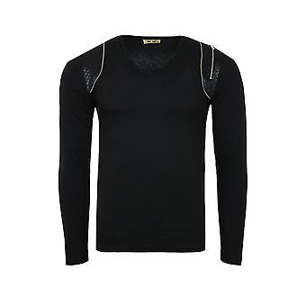 Tazzio mode Emimay skjorte mænds sweat-shirt sort EM-1164