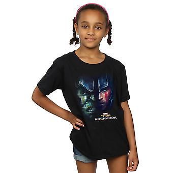Marvel Girls Thor Ragnarok Hulk Split Face T-Shirt