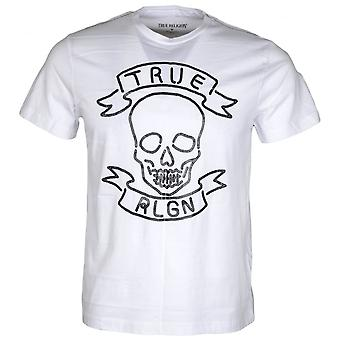 True Religion Neon Skull Optic White Cotton White T-shirt
