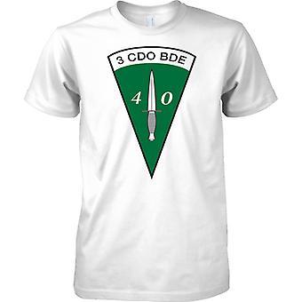 Licensed MOD -  Royal marines Commando Dagger 40 Cdo 3 Cdo Bde - Mens T Shirt