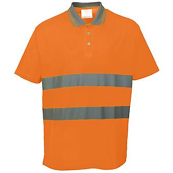Portwest Cotton Comfort Reflective Safety Short Sleeve Polo Shirt